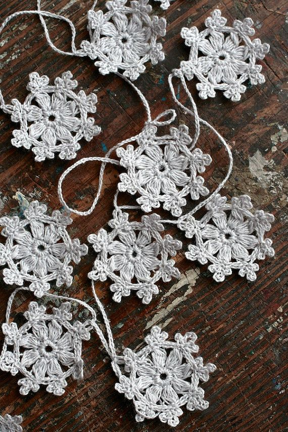 snowflake table decorations.htm crochet garland small doily bunting snowflake garland  crochet garland small doily bunting