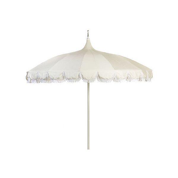 Paa 102 Fringe Umbrella Natural Acrylic Lucite Outdoor Patio 499