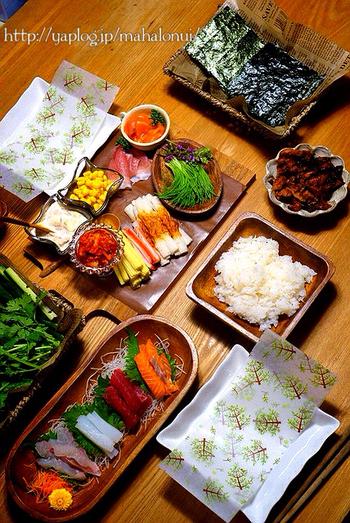 具 手 の 材 寿司 巻き
