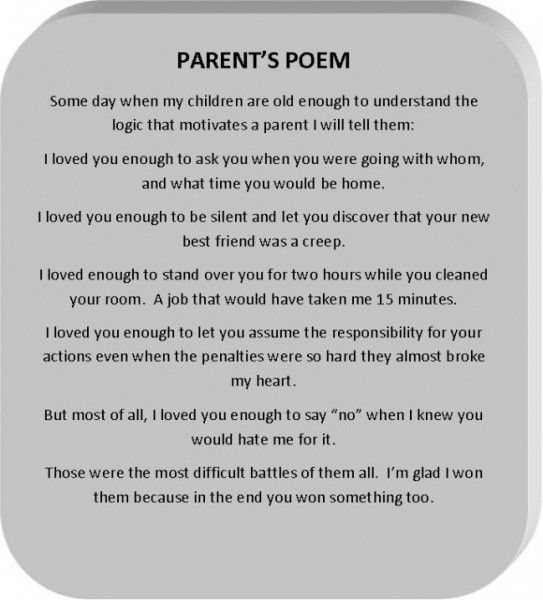 poems for parents | Parents Poem | Daughter & Son Things ...