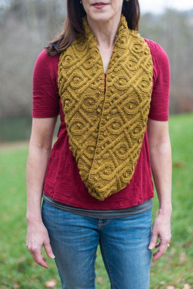 Kitra Cowl Knitting pattern by Jennifer Wood | Infinity ...