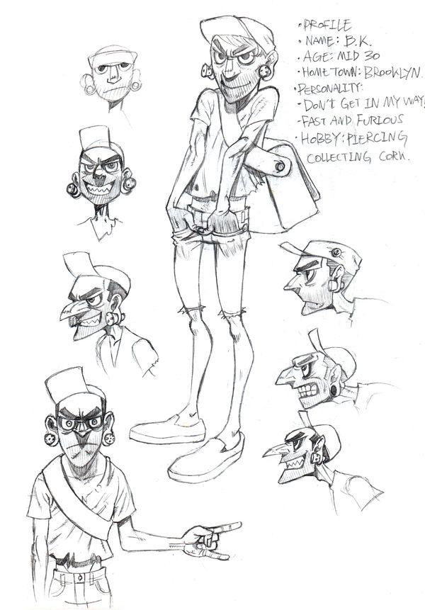 Vicious Circle-character design by Jae Il Son, via Behance
