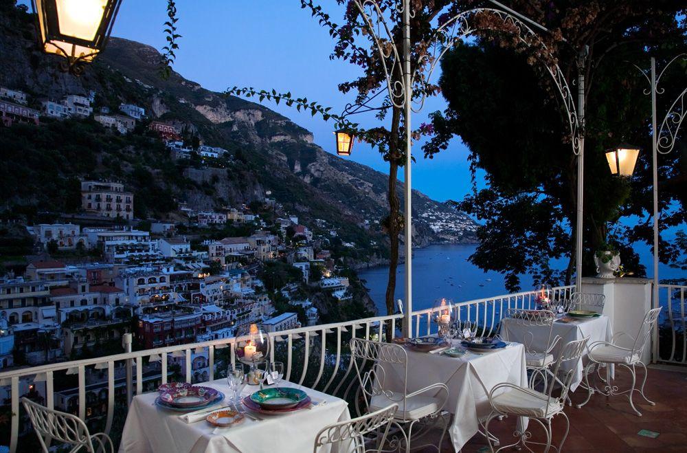 Terrace Restaurant Il Tridente Hotel Poseidon In Positano Our Honeymoon