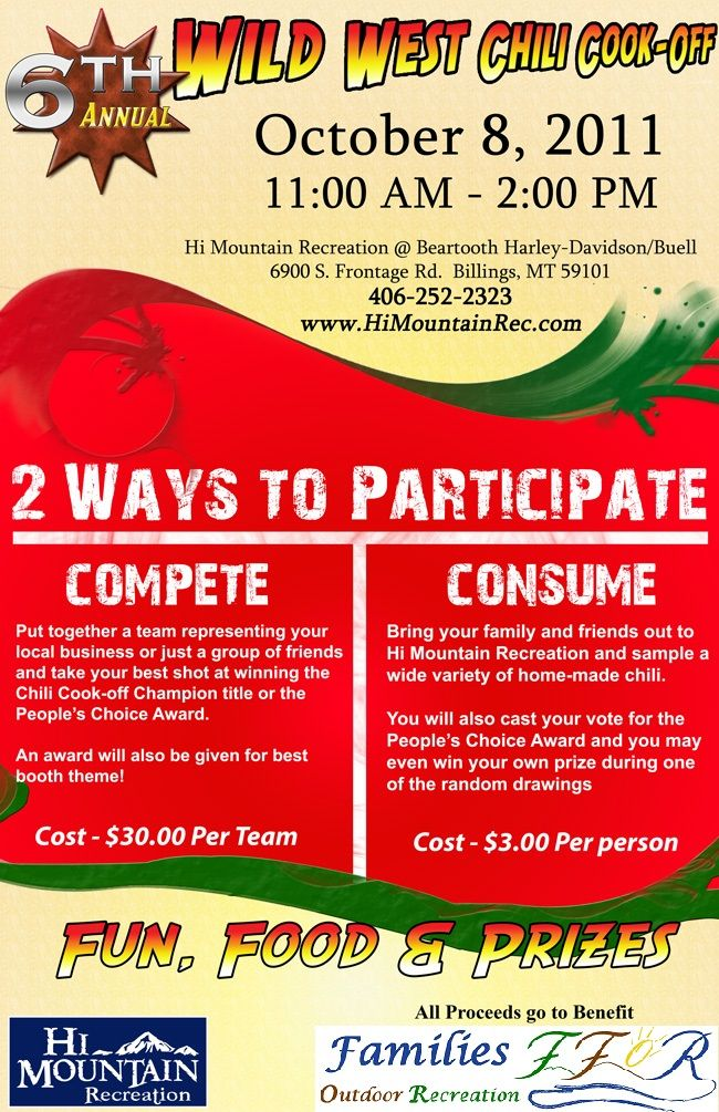 chili cook off fundraiser - Google Search | Chili Cook Off ...