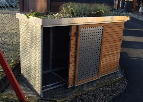 Poubelle Tonnenhaus für 3 Mülltonnen 240 Liter