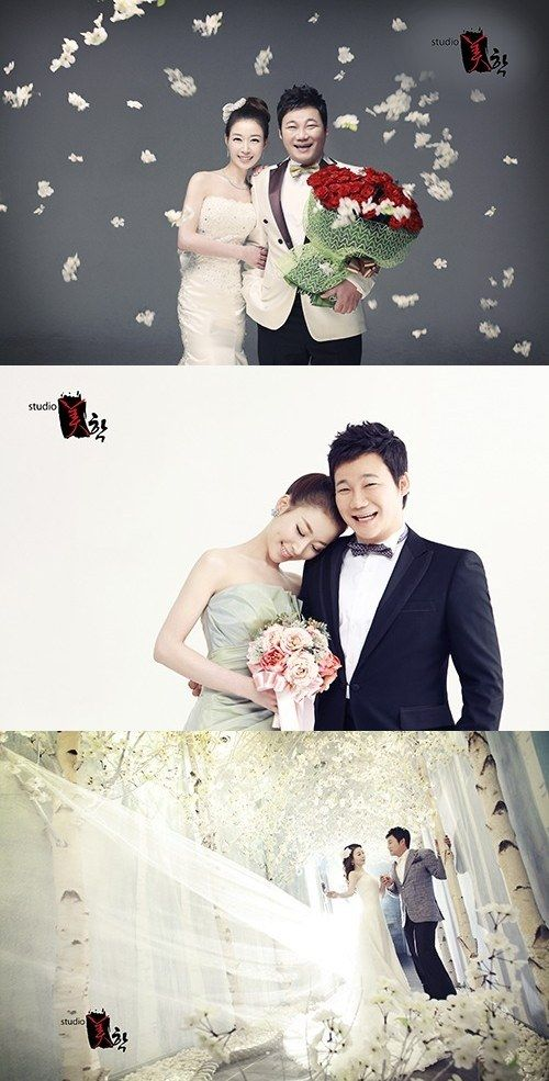 Comedian Kim Hyun Chul Unveils His Wedding Pictorial Beautiful Wife Wedding Photoshoot Wedding