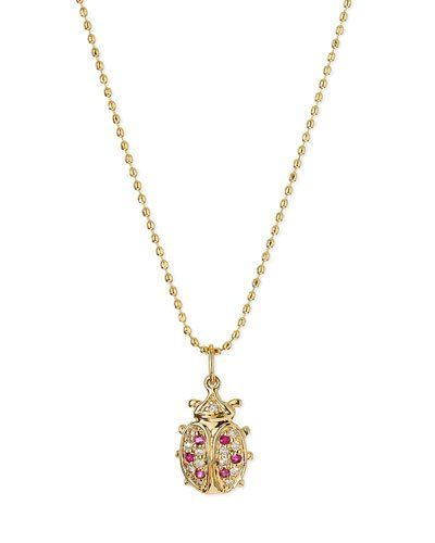 Sydney Evan 14K Lollipop Pendant Necklace a0lT7CVI