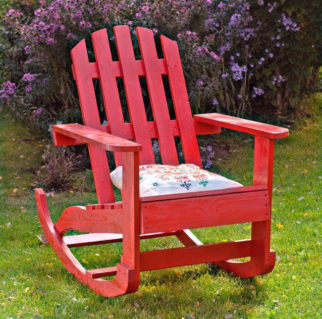 Costruire una sedia a dondolo in legno pallets for Sedia a dondolo nursery