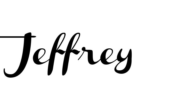 Cursive Jeffrey Name Design