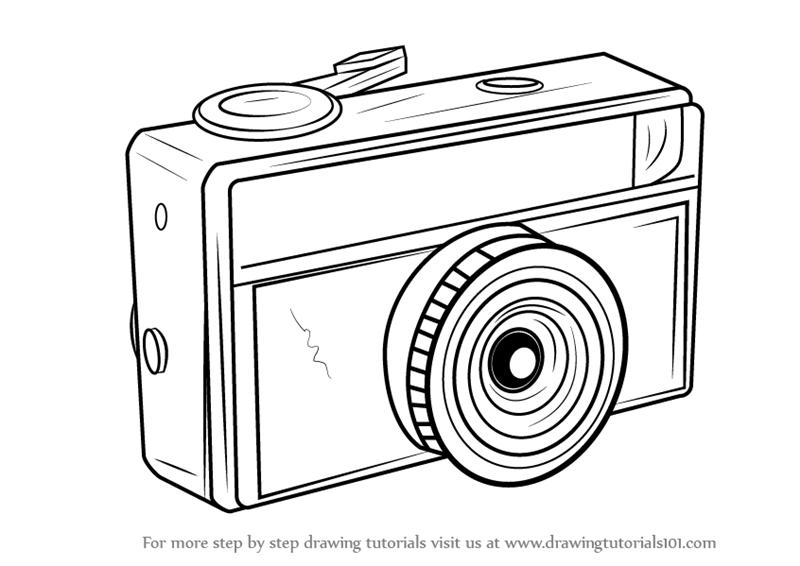 How to Draw a Vintage Camera - DrawingTutorials101.com | Vintage ...