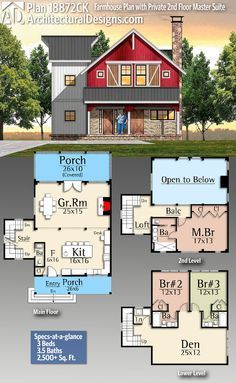 Architectural designs home plan ck gives you bedrooms baths and sq ft ready when are where do want to build also rh pinterest