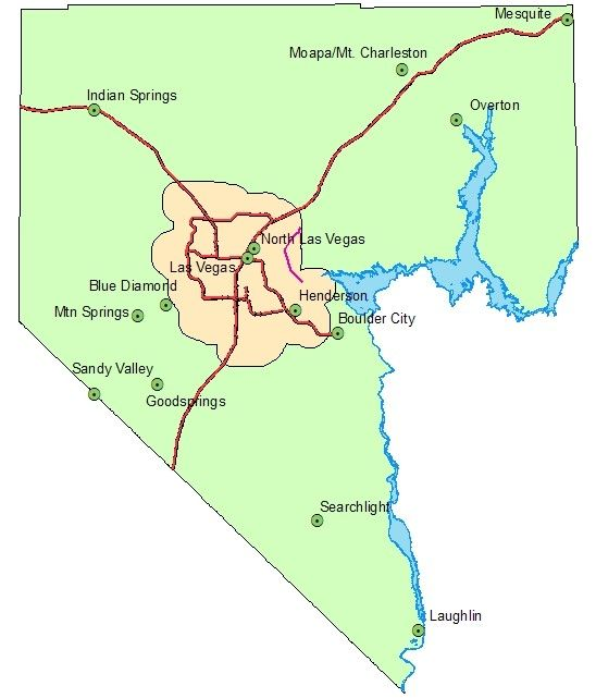 clark county map nevada Clark County Nv Map Boulder City Las Vegas Clark County clark county map nevada