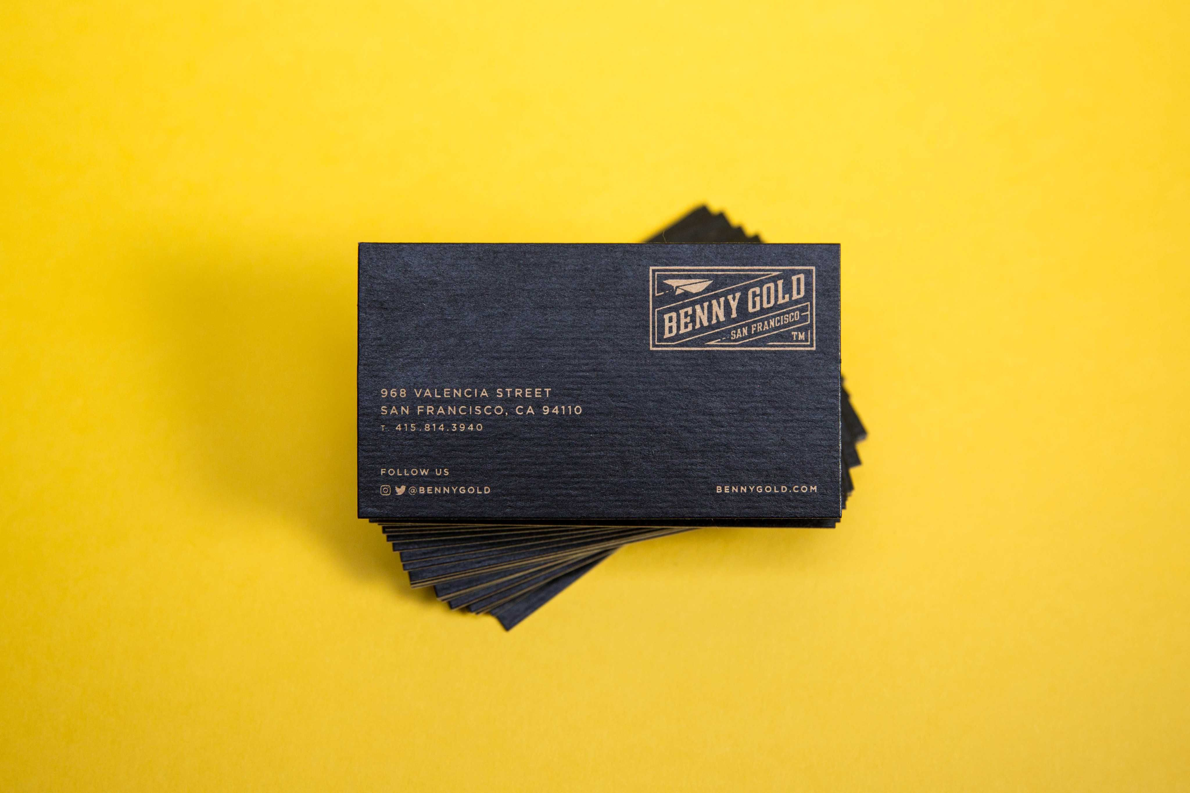 Benny20gold20business20cards20printed20by20mamassauce boutique spot color printing and specialty finishing colourmoves