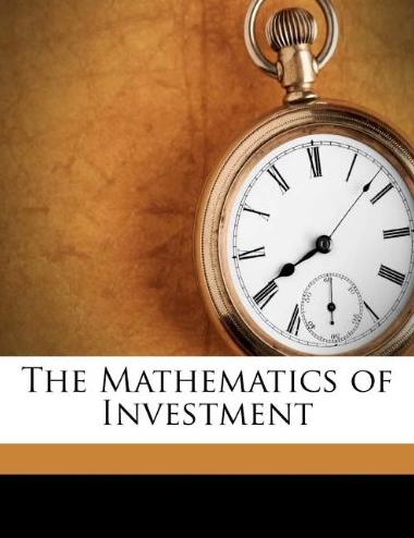 Mathematics Of Investment Pdf