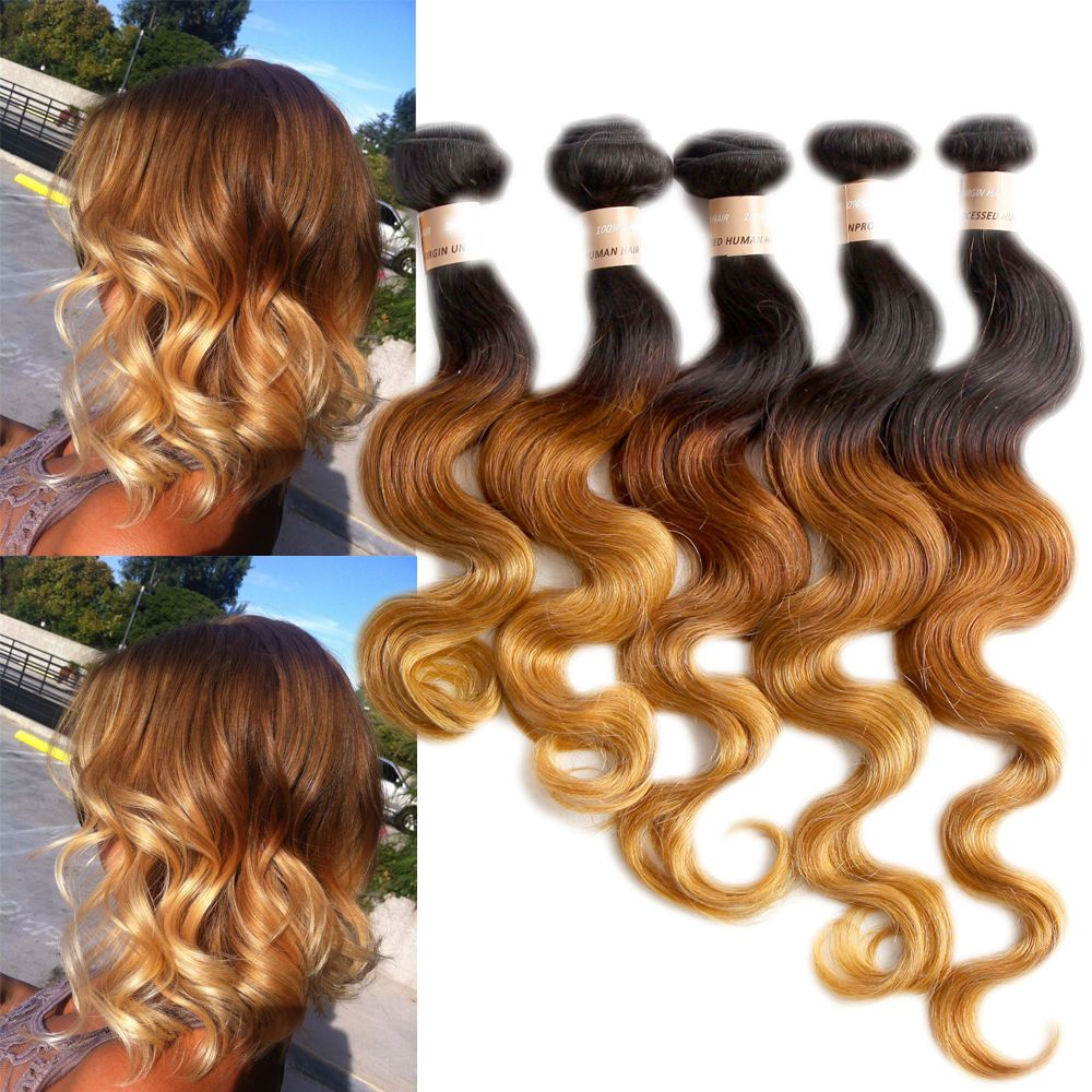 222426 3bundles 150g Blonde Ombre Real Human Hair Extensions Us