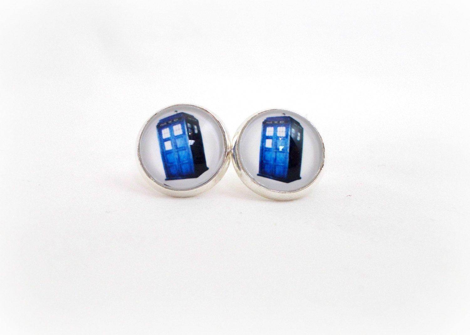 Blue Phone Booth Earrings Fun For S Stocking Stuffers