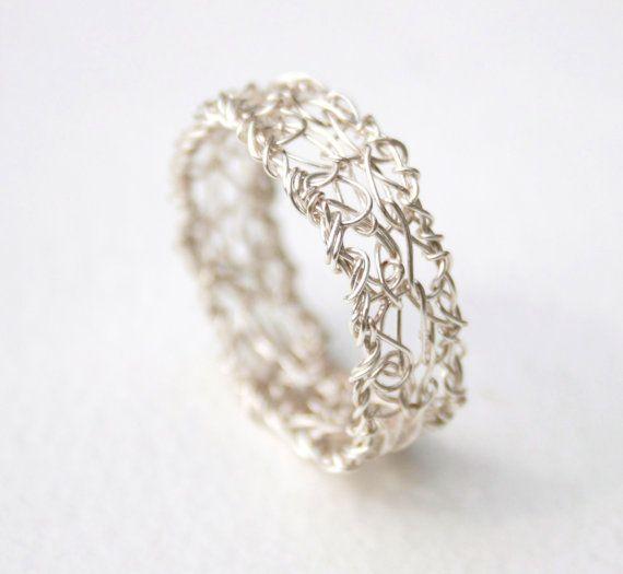 wire crochet ring | Bague | Pinterest | Schmuck, Draht und Ringe