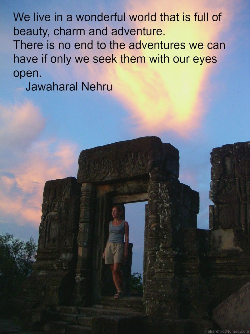 Nehru Quote Phnom Bakheng Temple Angkor Wat Cambodia Travel Inspiration Quote