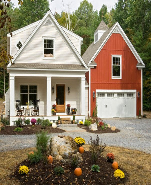 Home Garage Addition Ideas: House.. Attached Garage Built Like A Barn