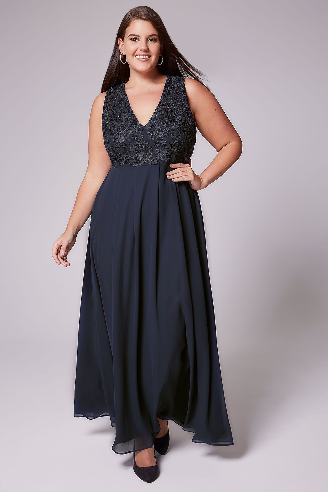6970372464 Lace Overlay Backless Maxi Dress - Gomes Weine AG