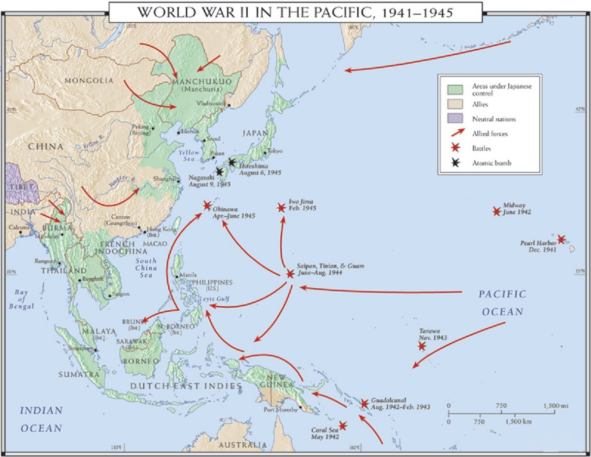 World War II Pacific   Battles Of The Pacific 1941 1945