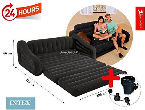 Intex Pull Out Sofa Inflatable Bed Queen Camping Et Camping Car