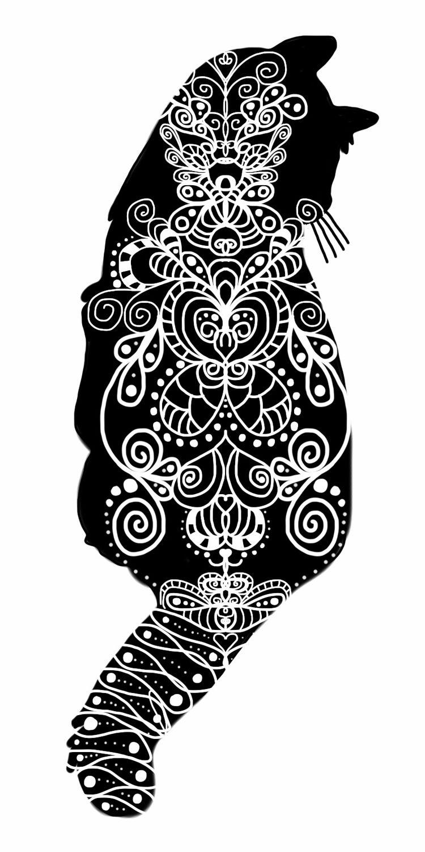 kitty doodle by Amanda O\'Brien | Ilustraciones de Gatos | Pinterest ...