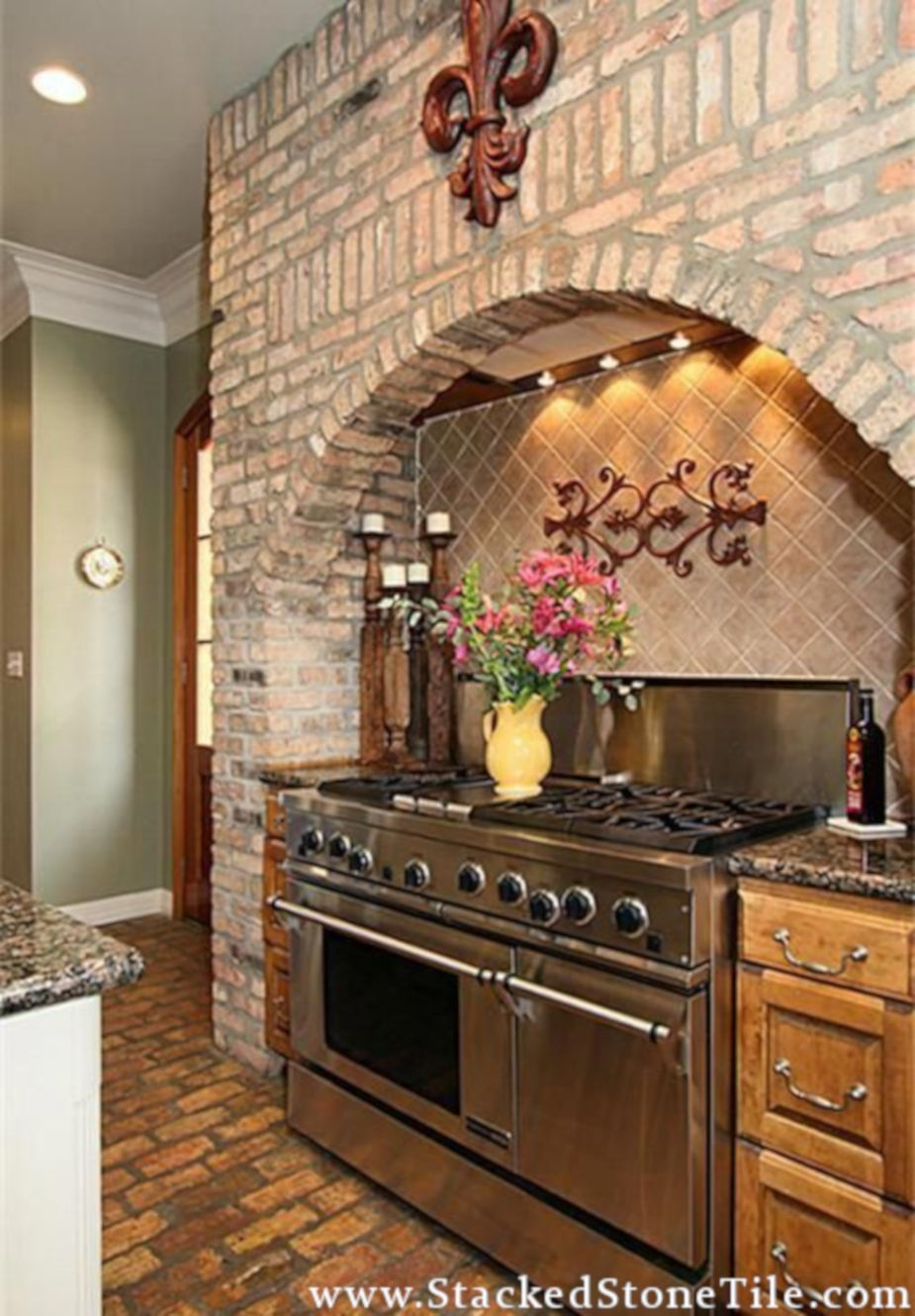 Kitchen Backsplash Kitchen Kitchen Tiles Design Stacked Stone