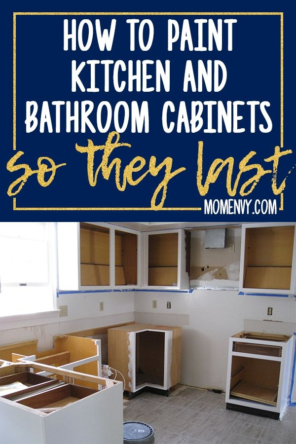 How to Paint Kitchen Cabinets so They Last  This Method Works! is part of Cabinet Organization How To Paint - Learn how to paint kitchen cabinets so they last  Are you looking to redo your kitchen cabinets but are worried whether or not they'll hold over the years