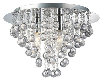 Buy modern 3 bulb chrome ceiling light with clear acrylic balls and beads from our bathroom ceiling lights range at tesco direct