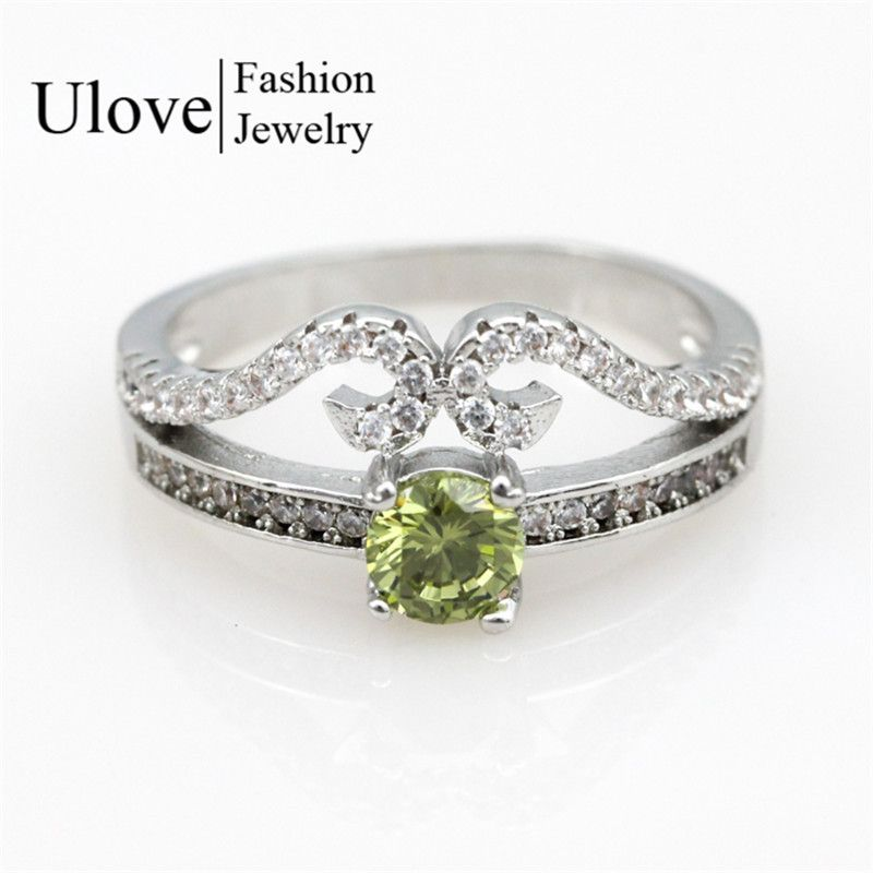 Find More Rings Information about Fashion 2015 Engagement Girls Silver Ring  Women with Green Stone Accessories f99ef3dbb2fb