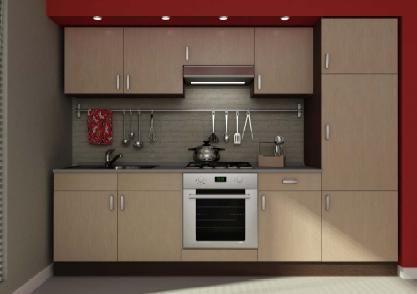 Cucina da 270 rovere chiaro e rovere scuro senza - Cucine componibili in kit di montaggio prezzo ...