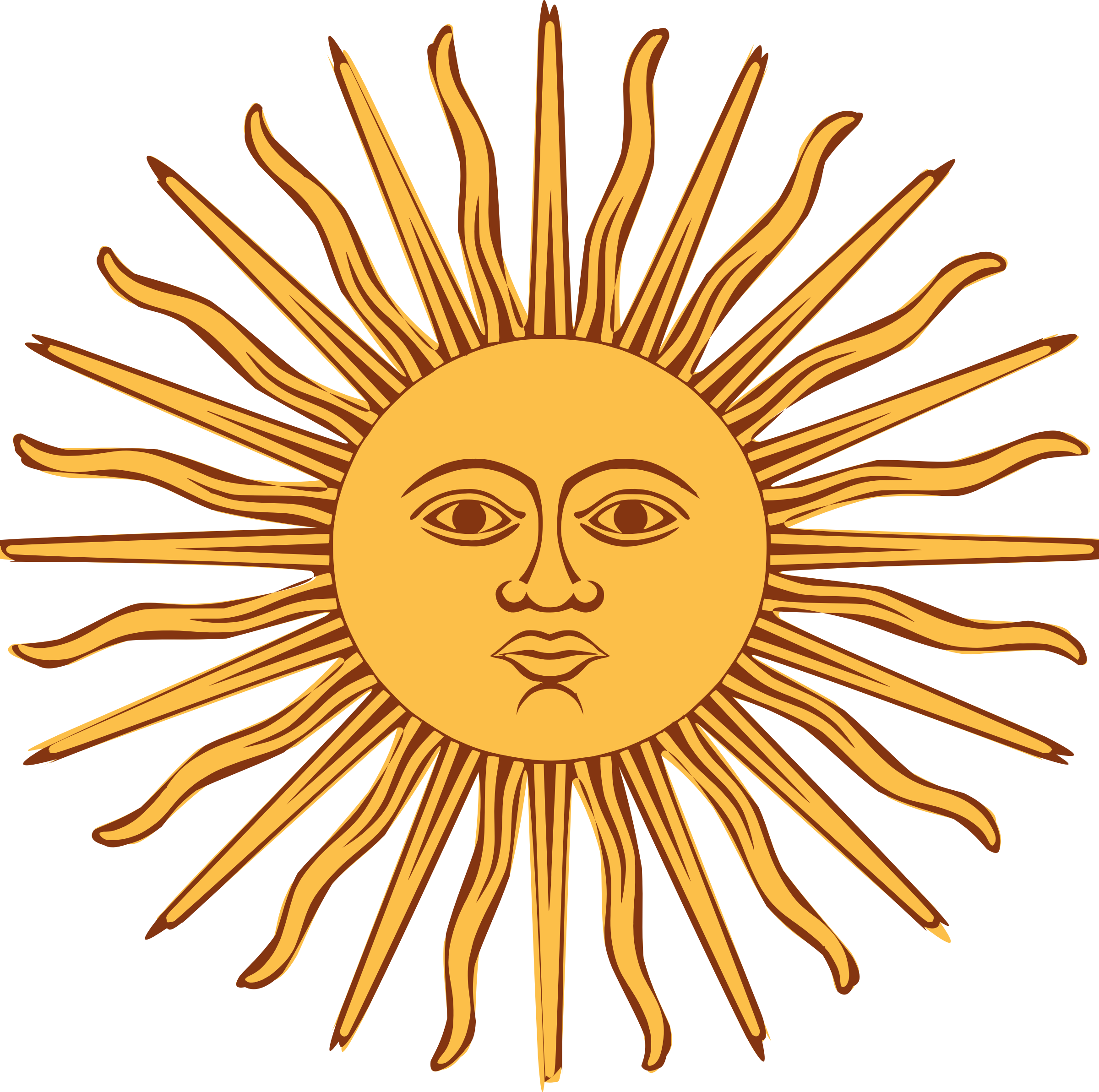 Animation of Sol de MayoBandera de Argentina Sun art