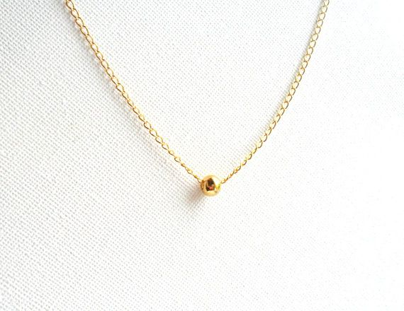 Simple Gold Necklace 14k Gold Chain Everyday Simple By Daniblu