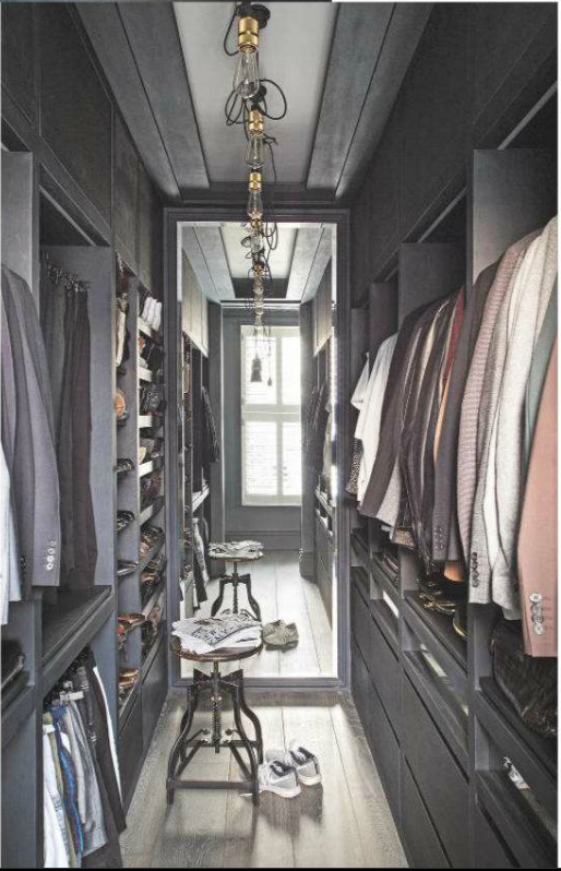 simple and effective walk in closet