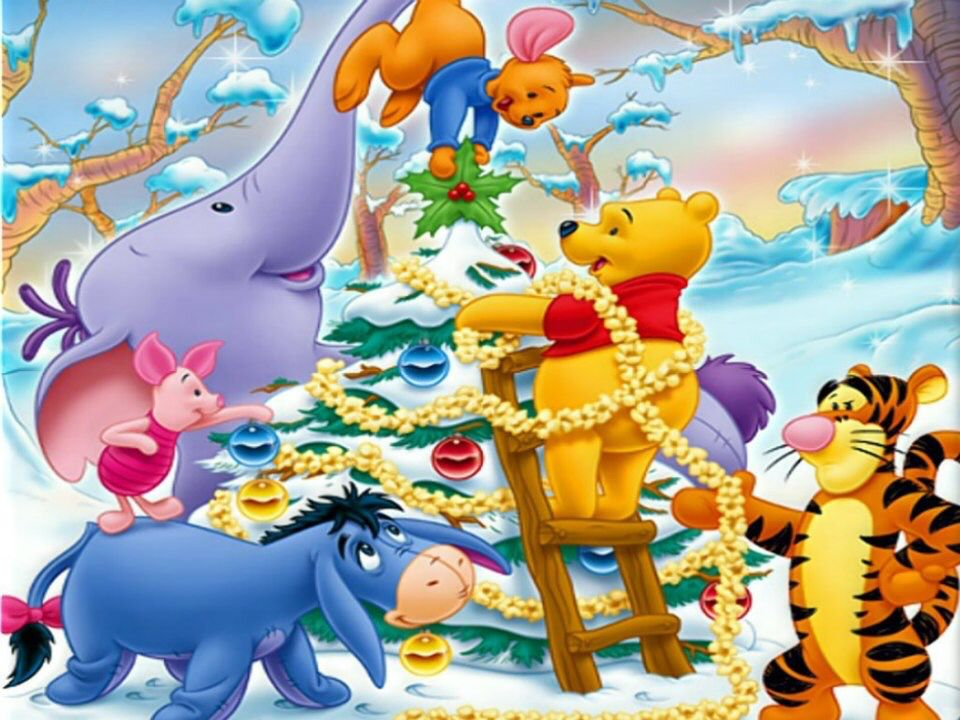 christmas  disney  winniethepooh  friends  winnie