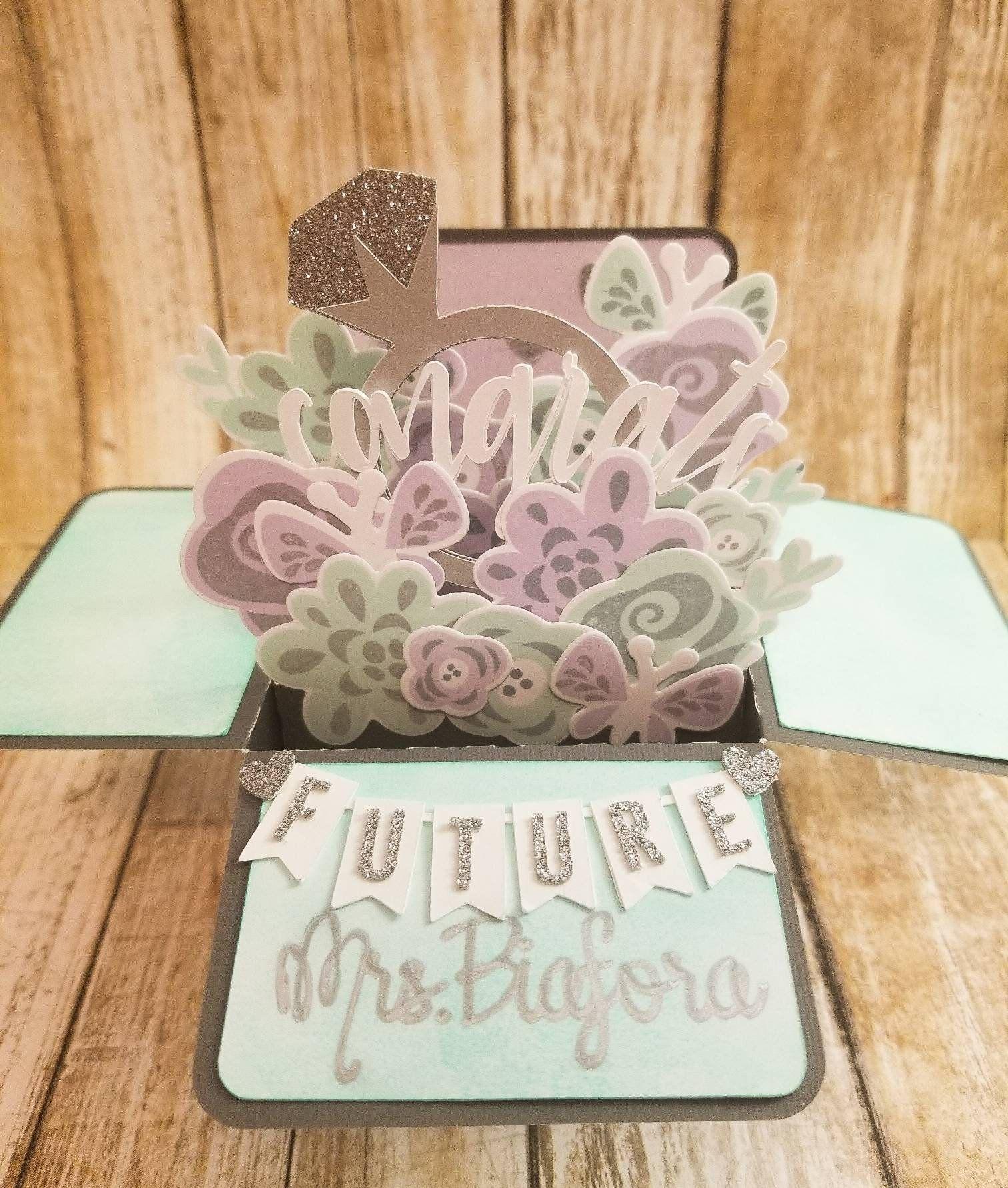 Bridal shower pop up box card for bride httpsetsyme