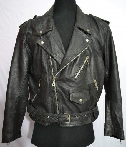 Duri E Puri Men S D Pocket Red Liner Motorcycle Thick Leather Jacket Made In Italy Leather Jacket Vintage Outfits Clothes