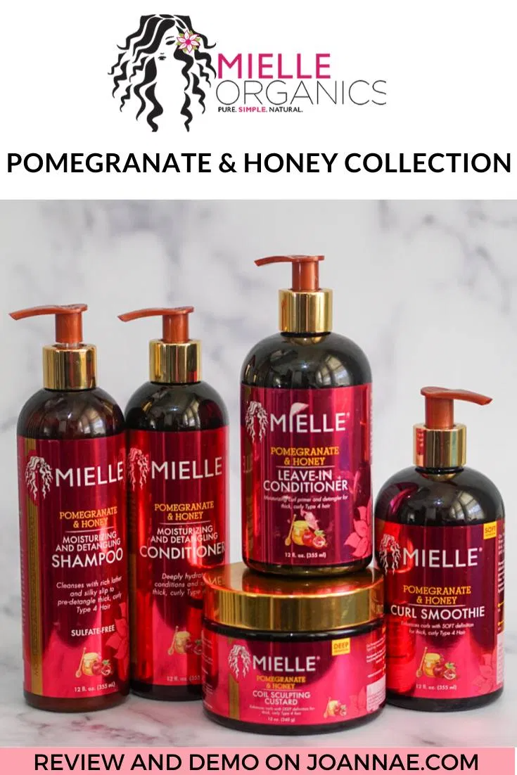 Wash Day with Mielle Organics Pomegranate & Honey Collection. Need natural hair products to moisturize thick, curly type 4 hair? Here is a wash day demo video using Mielle Organics Pomegranate and Honey Collection and Pomegranate and Honey collection review