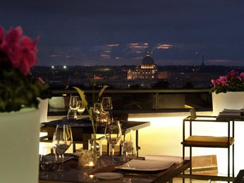 Rooftop Restaurant, café and bar at the Sofitel Rome Villa Borghese hotel in ROME