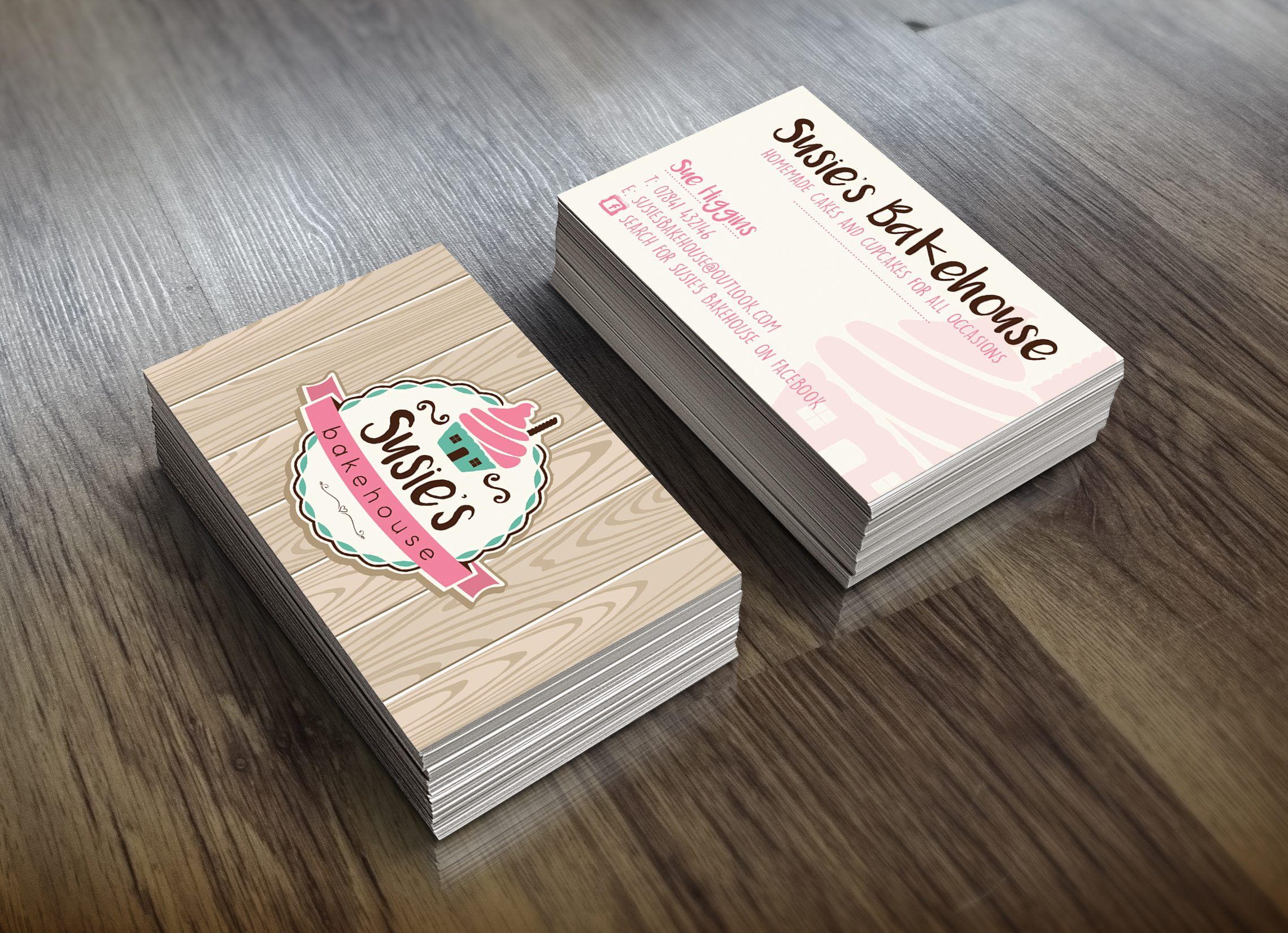 New to Our Portfolio Susie s Bakehouse Business Card Susie s
