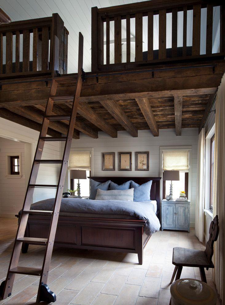 Beautiful Elegant Queen Size Loft Bed Farmhouse Bedroom Remodeling Ideas