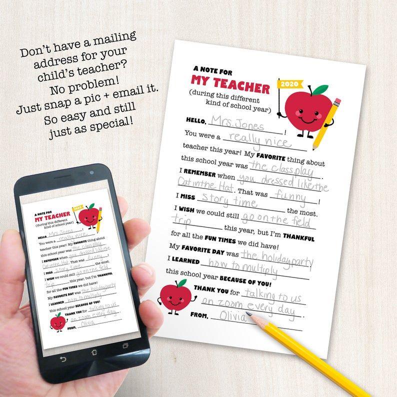 End of year teacher gift distance learning teacher etsy