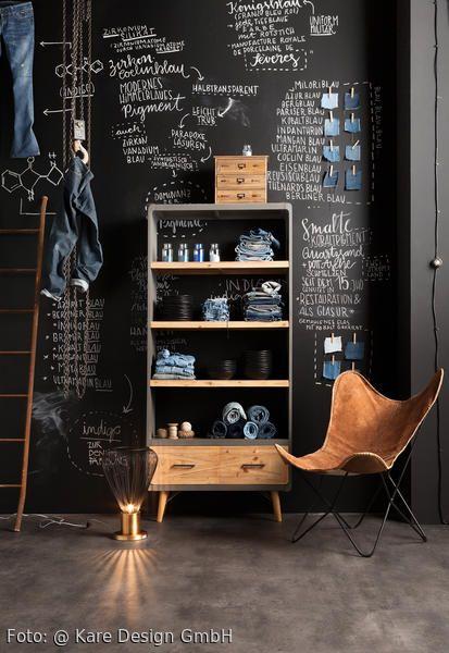 Urbaner Wohntraum Im Loft Stil Tafellack An Der Wand Mariposa