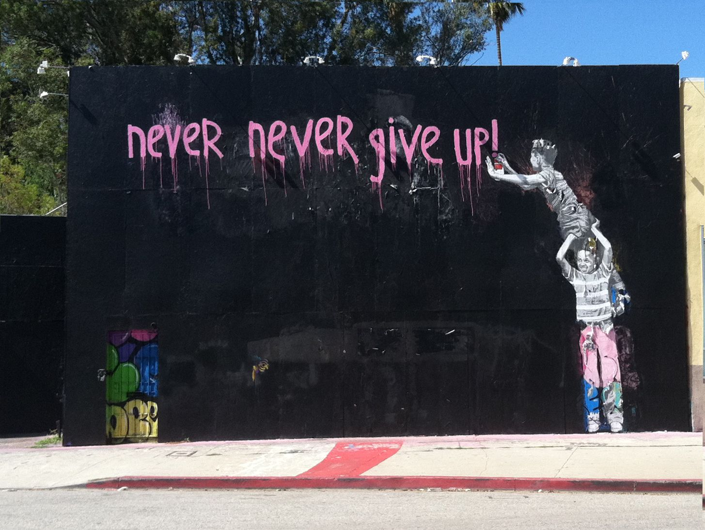 Thanks Banksy, across from the Burger King down La Brea