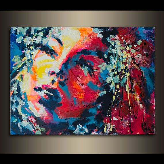 acrylic paintings of absract faces | Fine Art | Girl Portrait ...