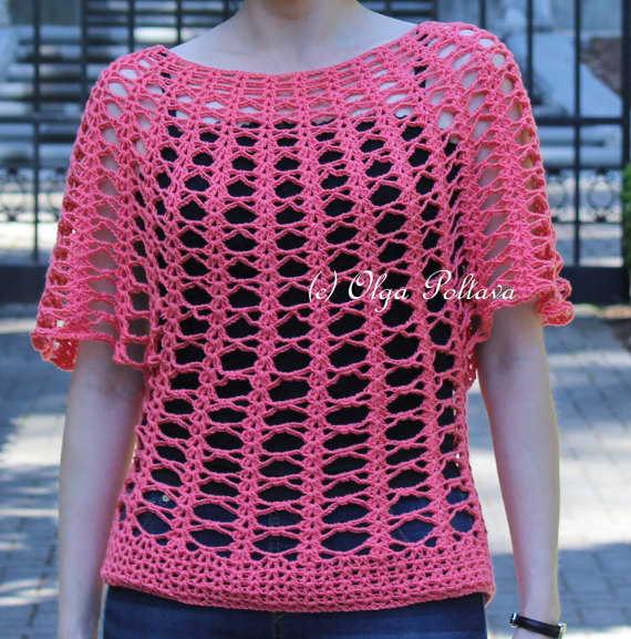 Summer Lace Top Crochet Pattern, Women\'s Summer Top, Size Small (4-6 ...