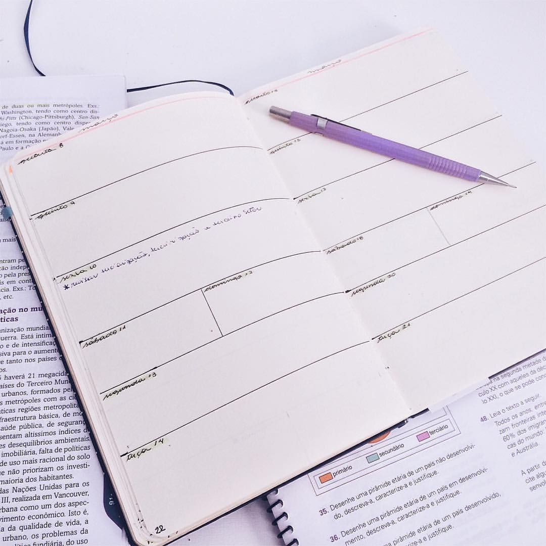 Começando a planejar os estudos da próxima semana + estudando geografia ------------------------- Start planing next week studies + studing geography  #estudogram #studygram