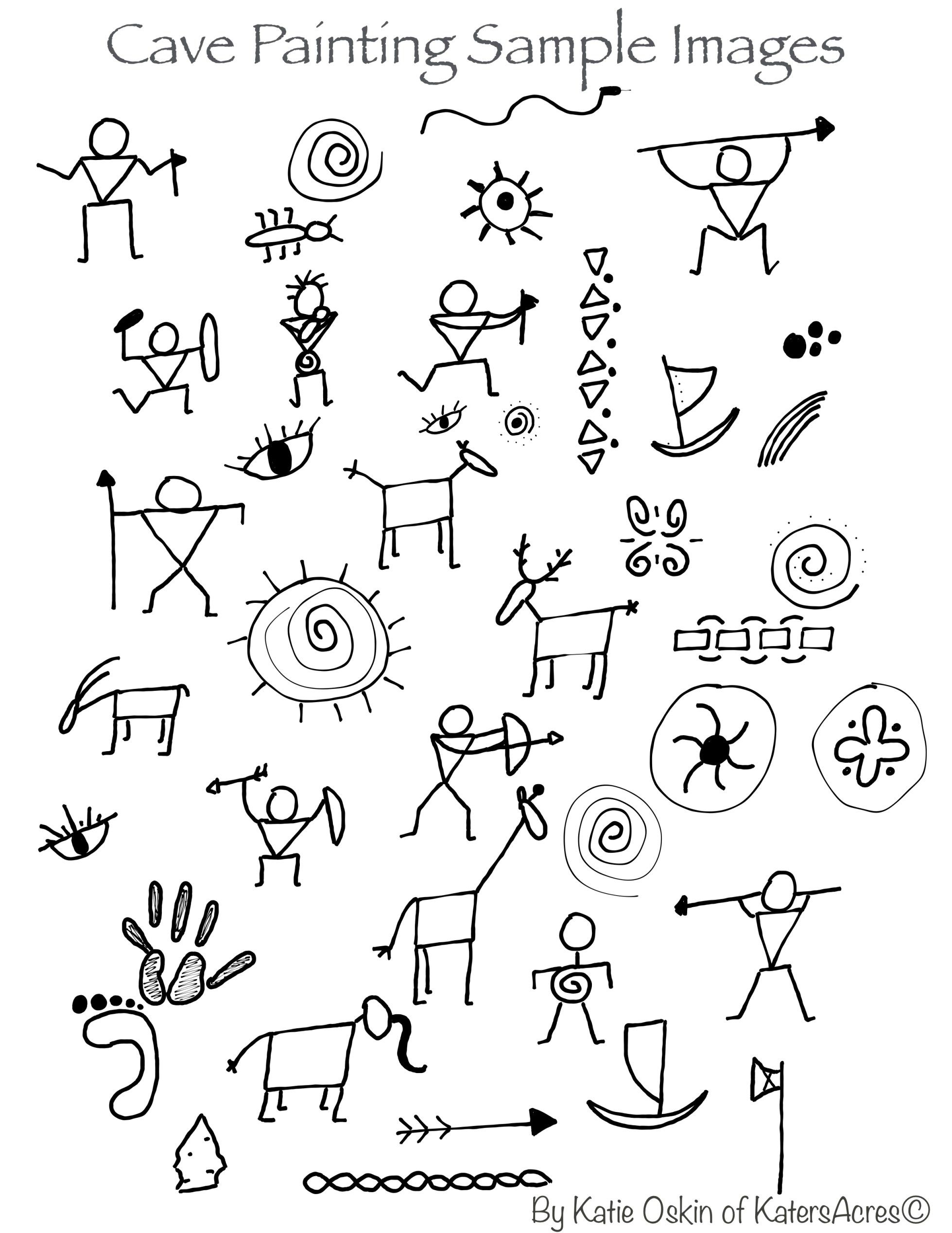 Cave Doodles Inspiration For Cave Paintings Background