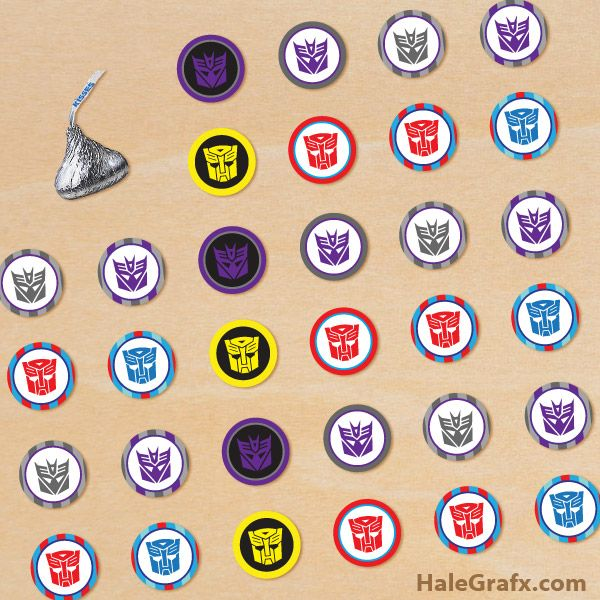 Transformers Candy Stickers Free Printable Transformers